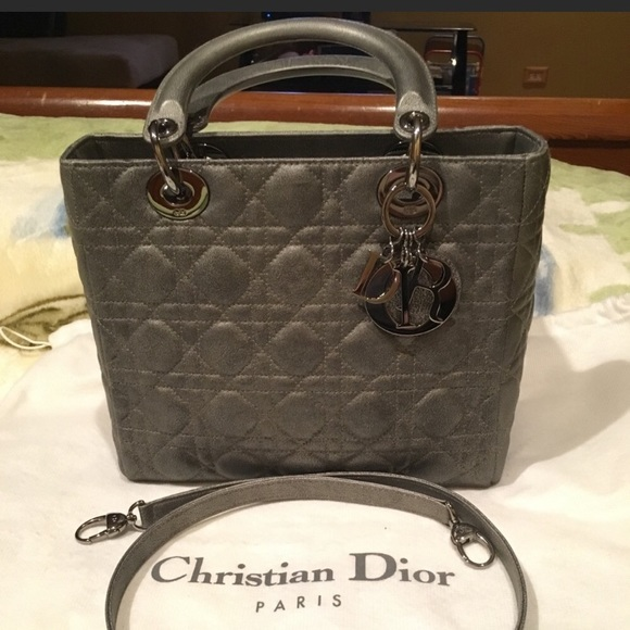 Dior Handbags - 💯 authentic LADY DIOR Lambskin MEDIUM